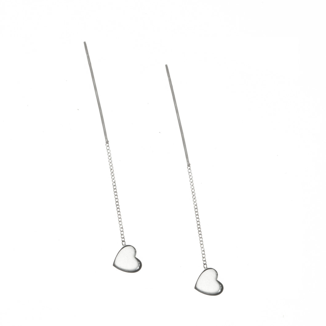 heart earrings sterling silver by Louise wade
