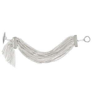 Louise wade Hepburn bracelet sterling silver diamond cut chain detail