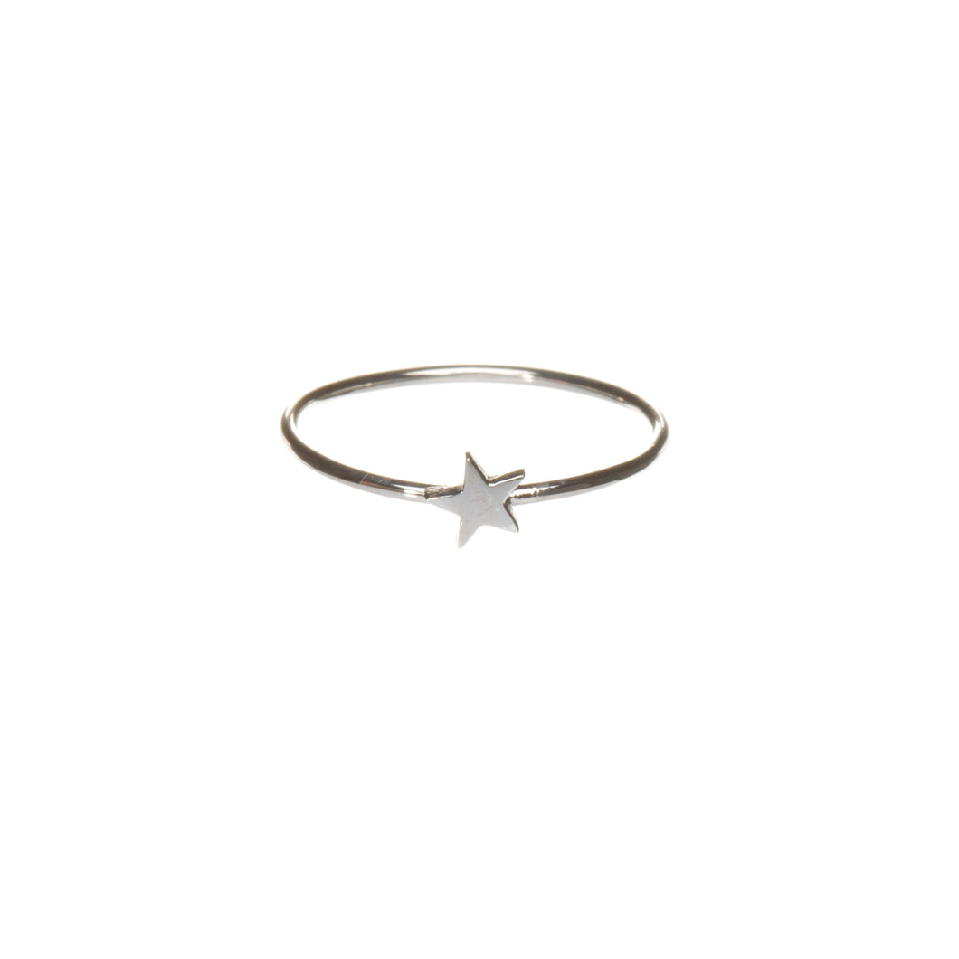 Little Star ring, silver star ring, christmas star, louise wade jewellery