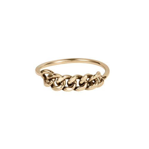 London Chain Ring 9ct Gold