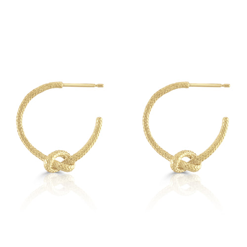 love knot hoop earrings in gold by Louise Wade