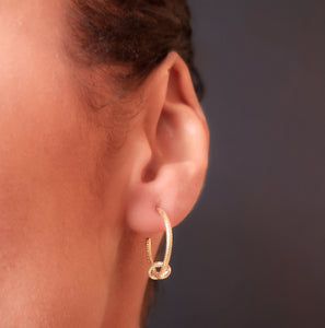 Love Knot Hoop Earrings