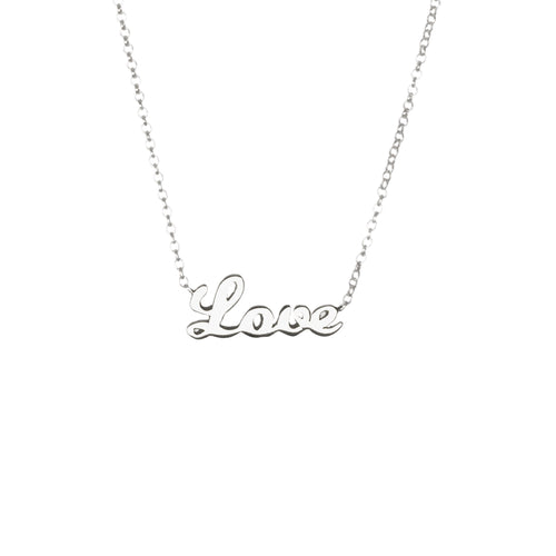 ove necklace by Louise Wade sterling silver