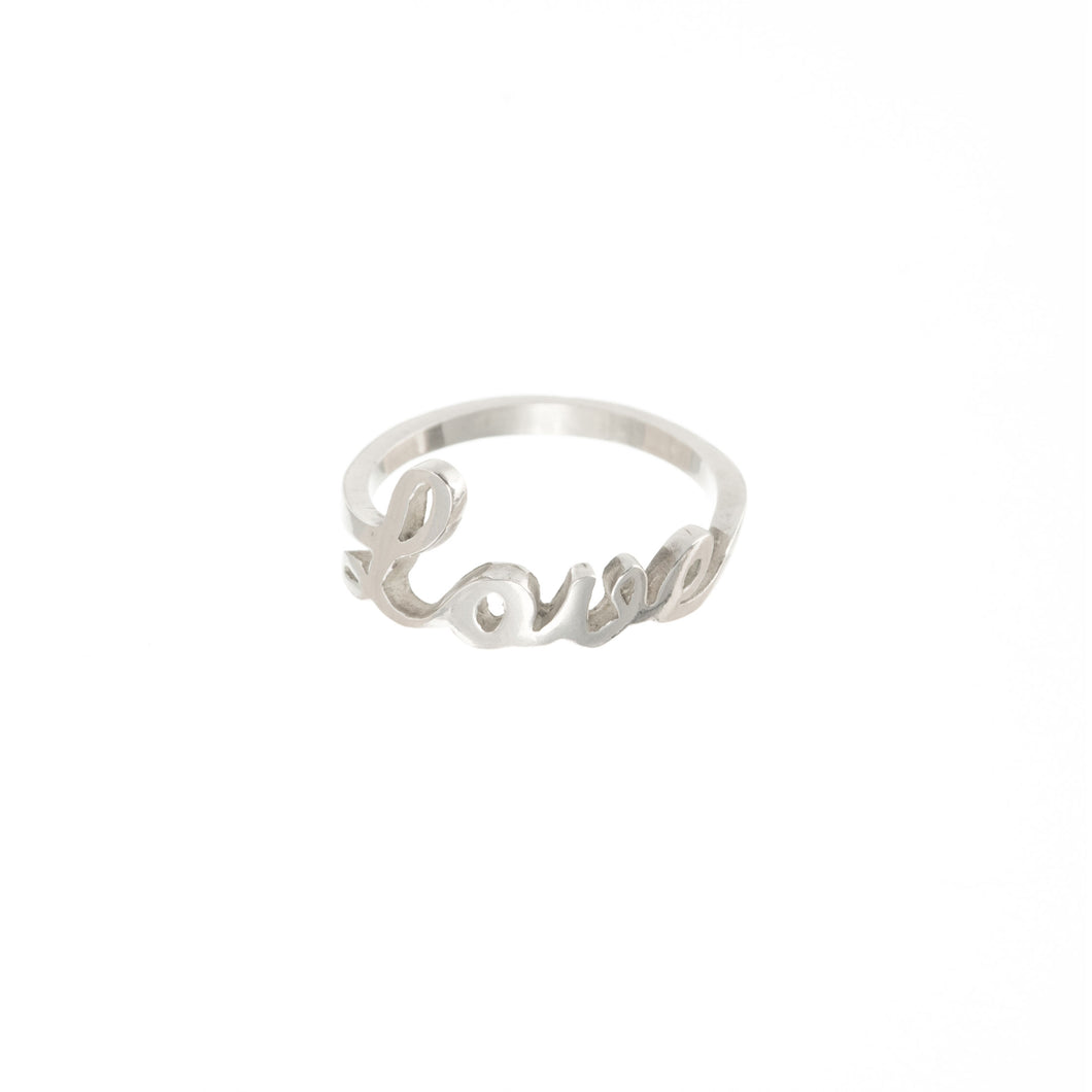 love ring by Louise Wade in sterling silver
