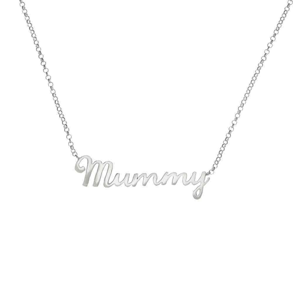 Mummy Necklace Sterling Silver by Louise Wade