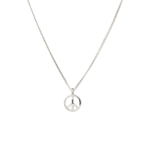 peace symbol necklace by Louise wade in sterling silver