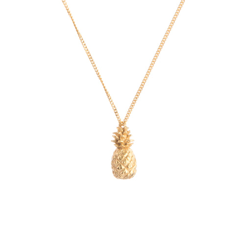 pineapple necklace in gold vermeil by Louise Wade London