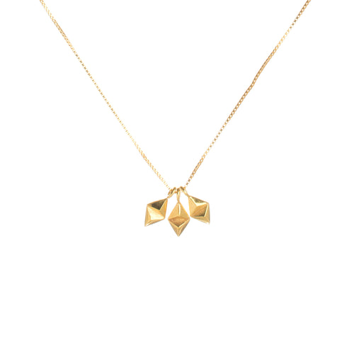 Kite Necklace in gold by Louise Wade Jewellery