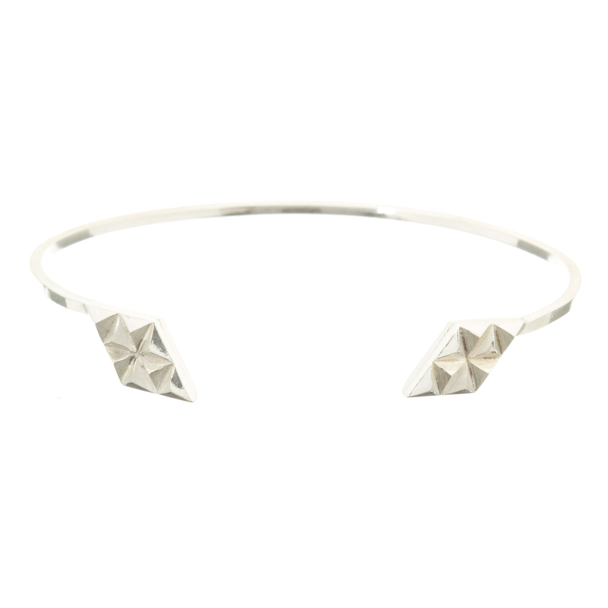cubic in with bangle bracelet sterling silver bangles open circle zirconia