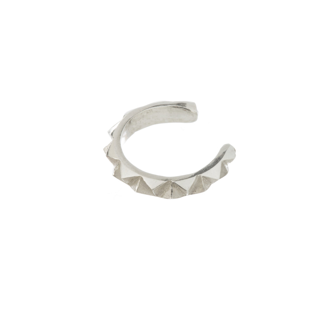 Rocka ear cuff in sterling silver by Louise Wade London
