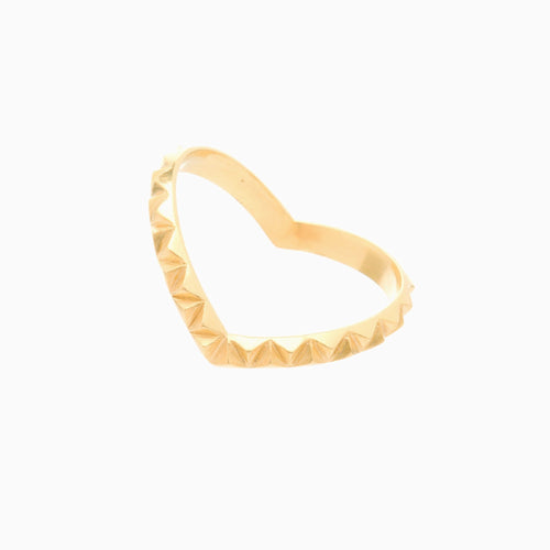 Louise Wade Rocka heart ring gold vermeil