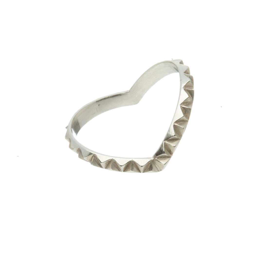 Louise Wade Rocka heart ring sterling silver