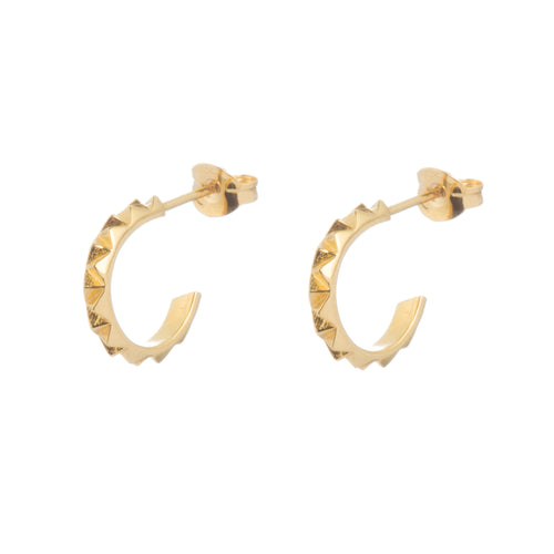 Rocka hoop earrings in gold vermeil by Louise Wade London