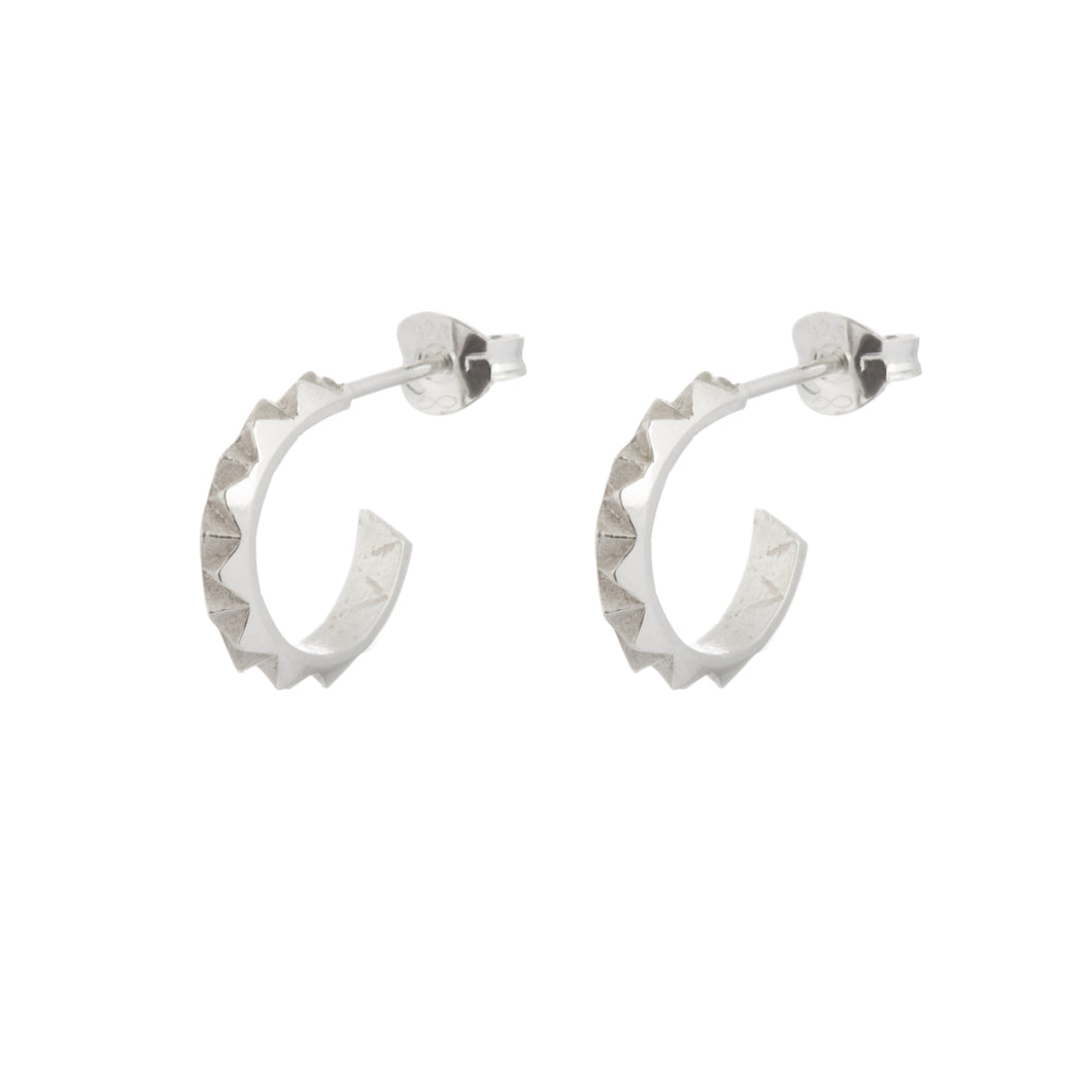 Rocka hoop earrings in sterling silver by Louise Wade London