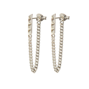 Louise Wade rocka line chainback earrings sterling silver