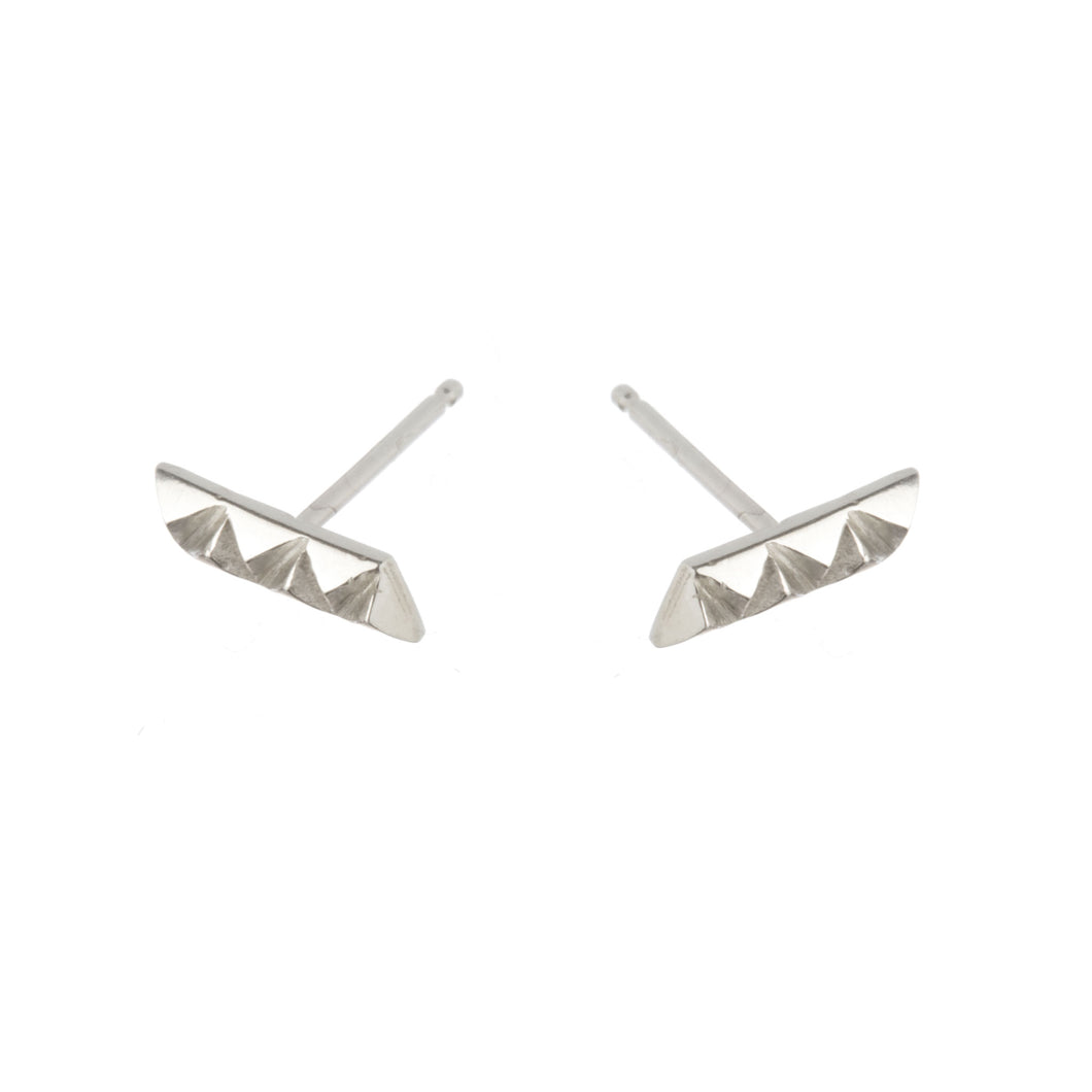rocka line stud earrings in sterling silver by Louise Wade