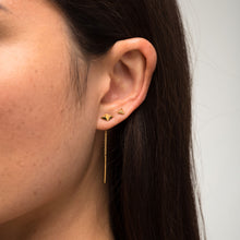 Load image into Gallery viewer, Rocka Stud Chainback Earrings in gold vermeil by Louise Wade