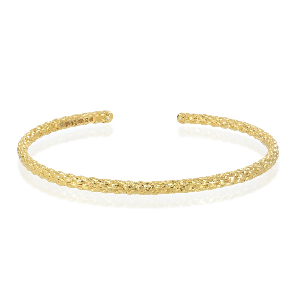 Rope bangle in gold by Louise Wade