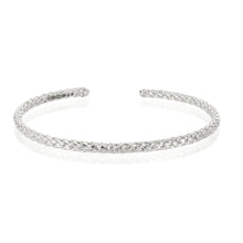 Rope bangle in silver by Louise Wade