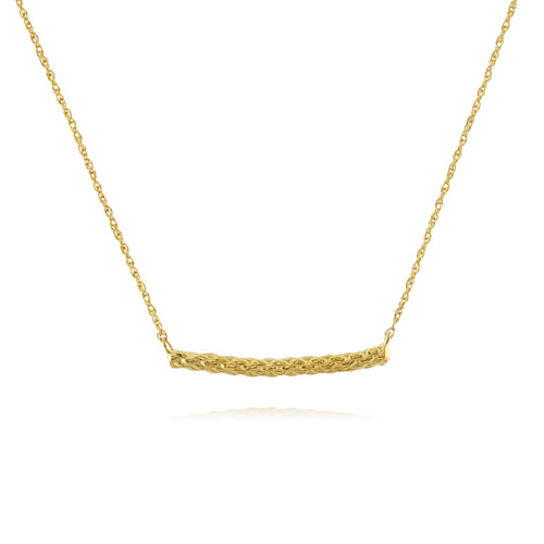 Rope necklace in gold by Louise Wade