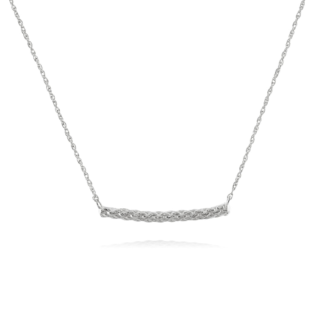Rope necklace in silver by Louise Wade
