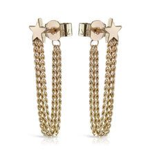 Load image into Gallery viewer, Shooting Star Chain Back Earrings