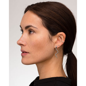 Louise wade Vincent stud earrings, snake earrings, rocka ear cuff