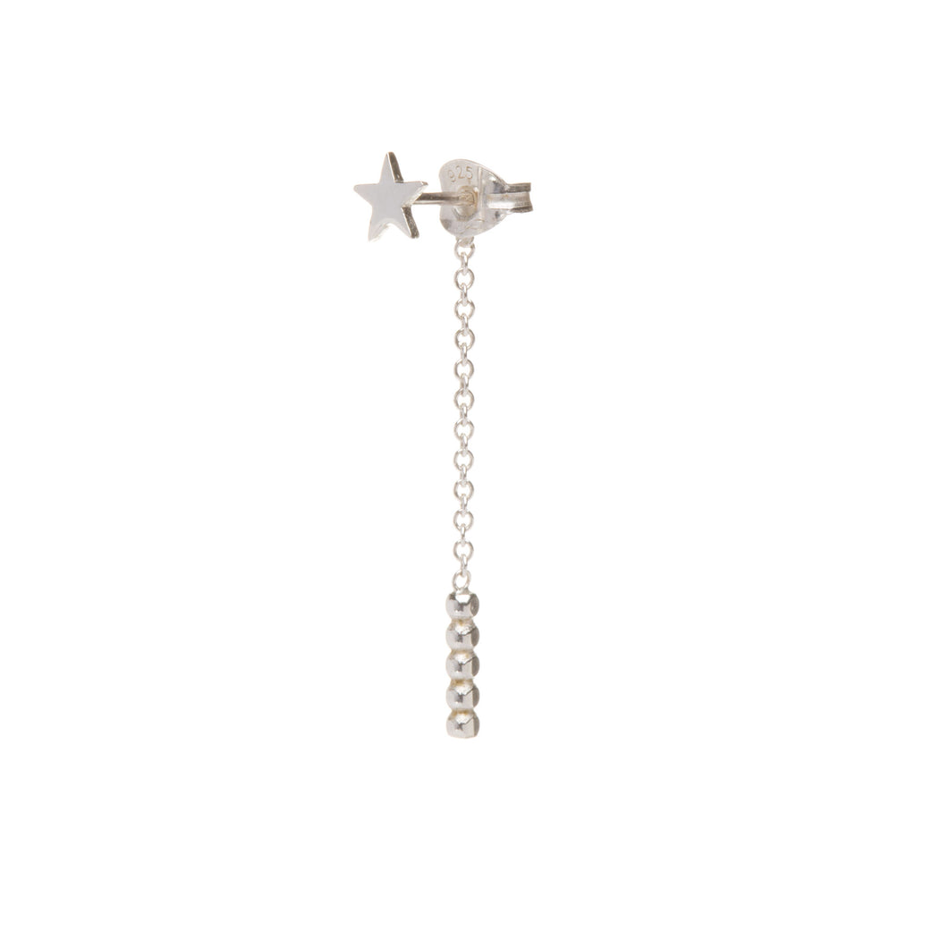 Lone Star Chain Back Earring