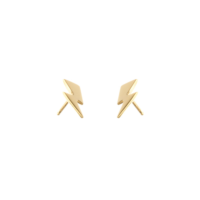 Louise Wade Small Bowie Flash Stud Earrings gold vermeil