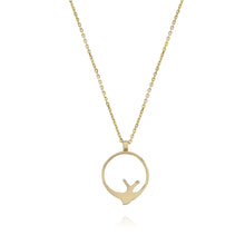 Load image into Gallery viewer, Swallow Hoop Necklace