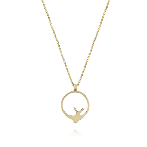 Swallow Hoop Necklace