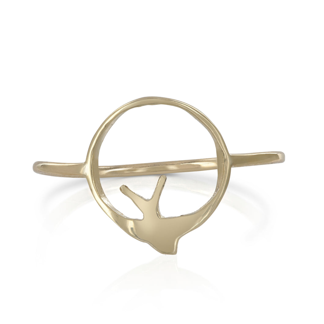 Swallow Hoop Ring