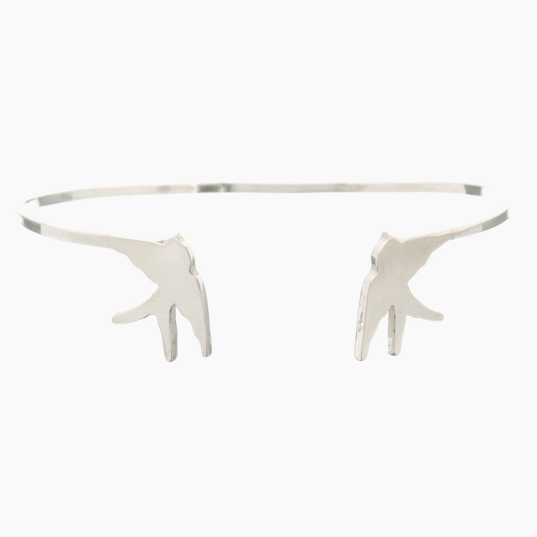 Louise Wade Swallow Open Bangle sterling silver
