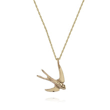 3D Swallow Pendant Necklace