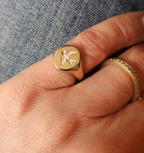 Swallow Signet Ring