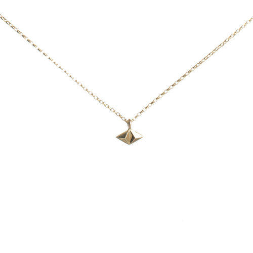 tiny rocka stud necklace in gold vermeil by Louise Wade
