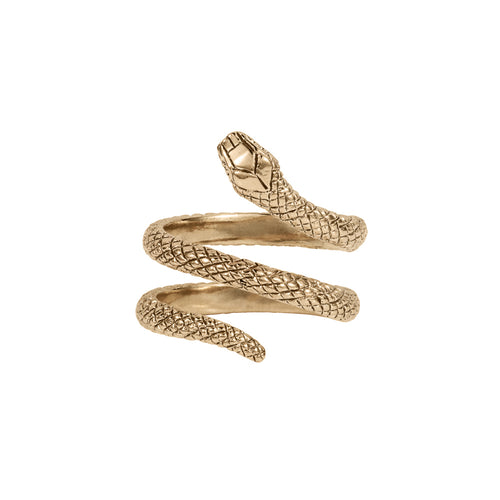 Twice Wrap-around Snake Ring