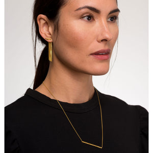 Louise wade chain back earring medium model