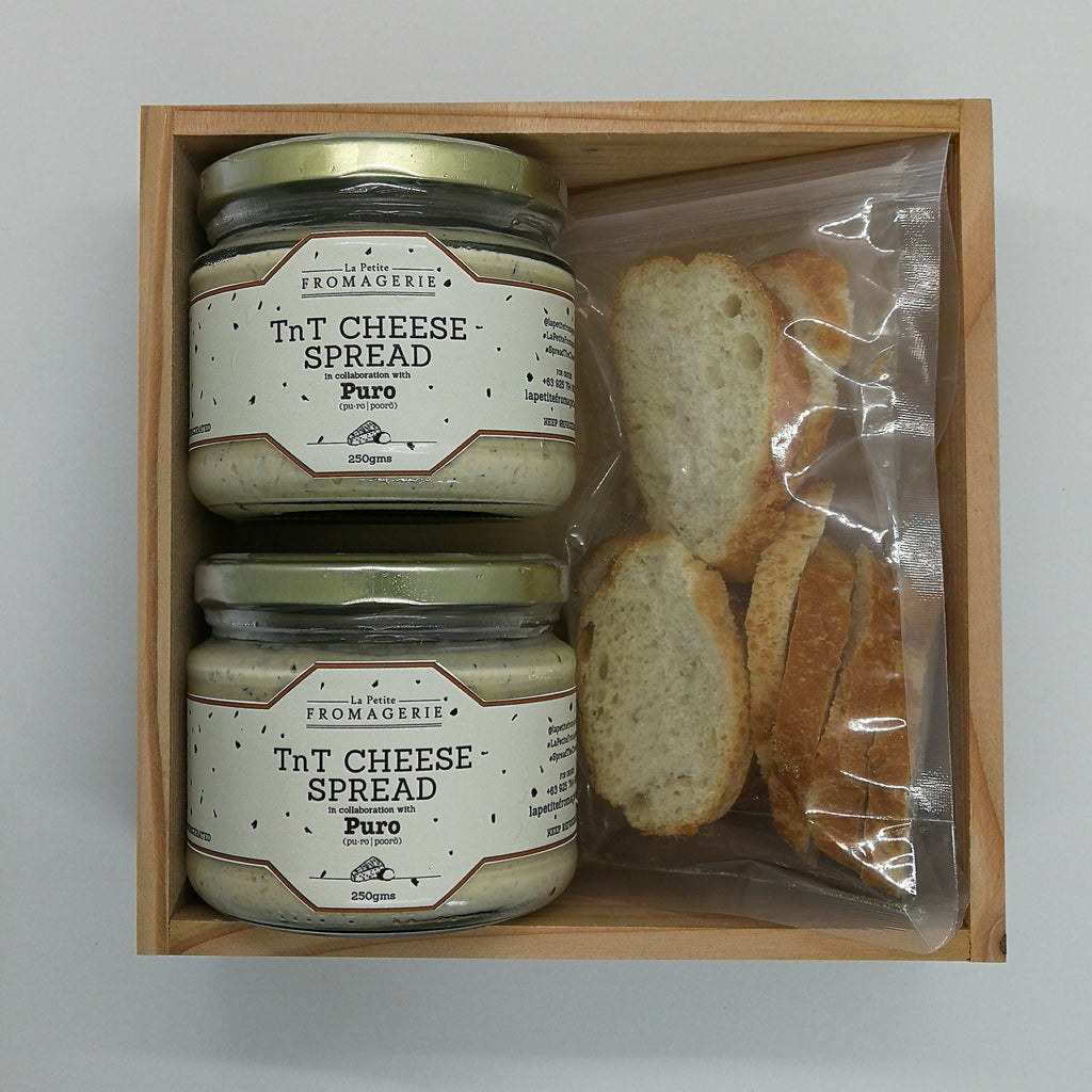 2 TnT Cheese Spread in a Gift Box with Crostinis