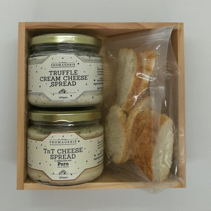 Truffle Spread and TnT Cheese Spread in a Gift Box