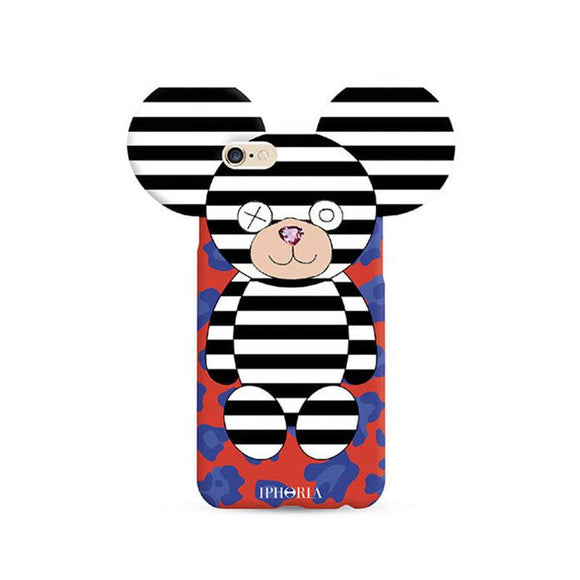 IPHORIA アイフォリア iPhone8/7 ケース Teddy BLACK AND WHITE STRIPES