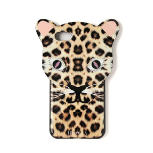 IPHORIA アイフォリア iPhone8/7 ケース  Leo Case Brown Leopard