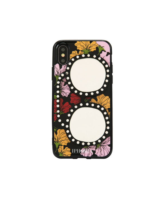 IPHORIA(アイフォリア) iPhone X/XS ケース Floral Love With Glasses(ミラー ライン)