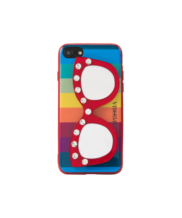 IPHORIA(アイフォリア) iPhone 7/8 ケース Rainbow Diamond With Glasses(ミラー ライン)