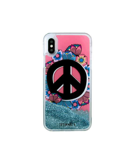 IPHORIA(アイフォリア) iPhone X/XS ケース Coral Peace Is Power(リキッド コレクション)