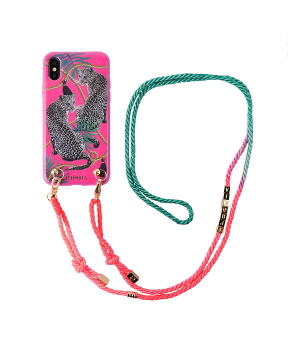 IPHORIA(アイフォリア) iPhone X/XS ケース Necklace Pink Leopard(ネックレスケース)