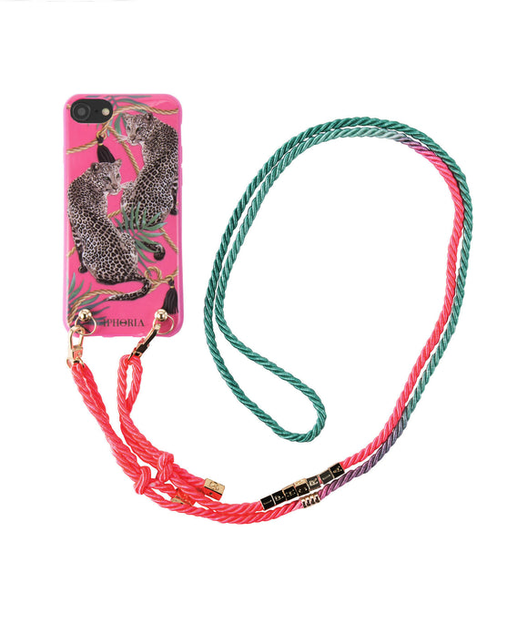 IPHORIA(アイフォリア) iPhone 7/8 ケース Necklace Pink Leopard(ネックレスケース)