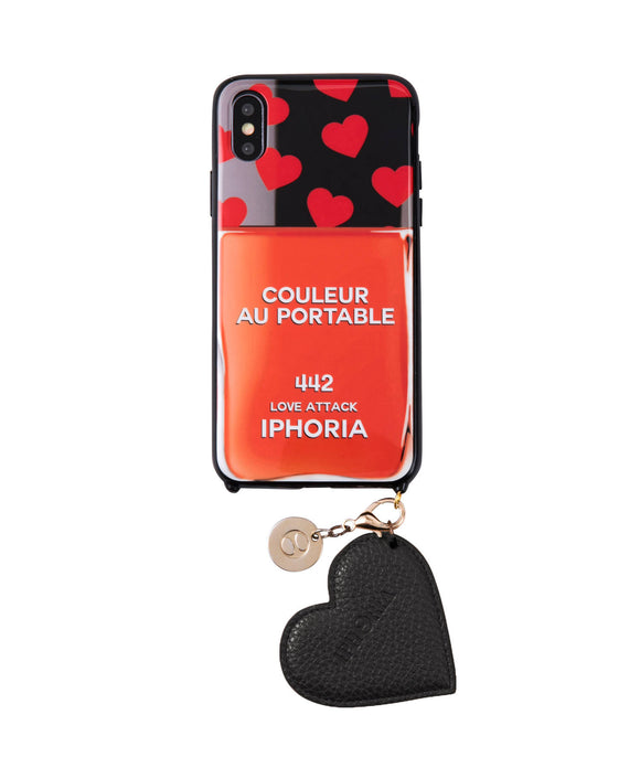 IPHORIA(アイフォリア) iPhone X/XS ケース Couleur au Portable Love Attack Jewelery Mold (ネイルポリッシュ ライン)