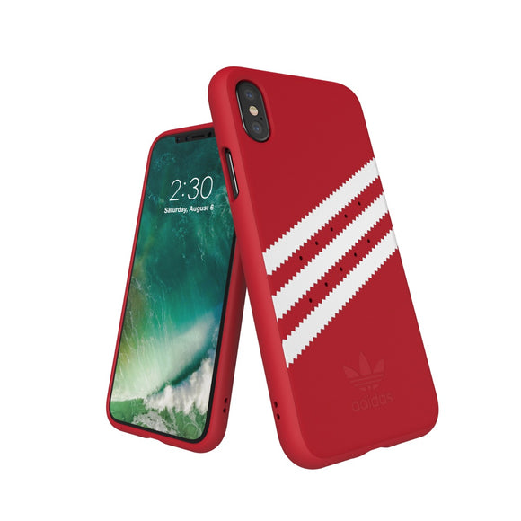 adidas(アディダス) Originals iPhoneX 背面型 ケース OR-Moulded Royal Red/White