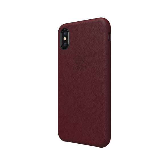 adidas(アディダス) Originals iPhoneX 背面型 ケース OR-leather slim Burgundy